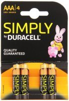 Duracell Plus MN2400 Alkaline AAA Batteries Pack of 4