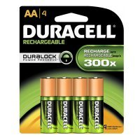 Duracell Rechargeable Stay Charged AA 2500 mAh PK4