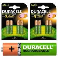 Duracell Rechargeable Standard AAA 750 mAh Pack of 4