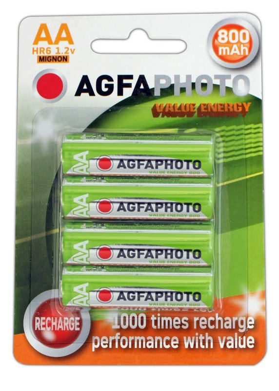 Image of AGFA0 AA RechargeableBatteries 4PK