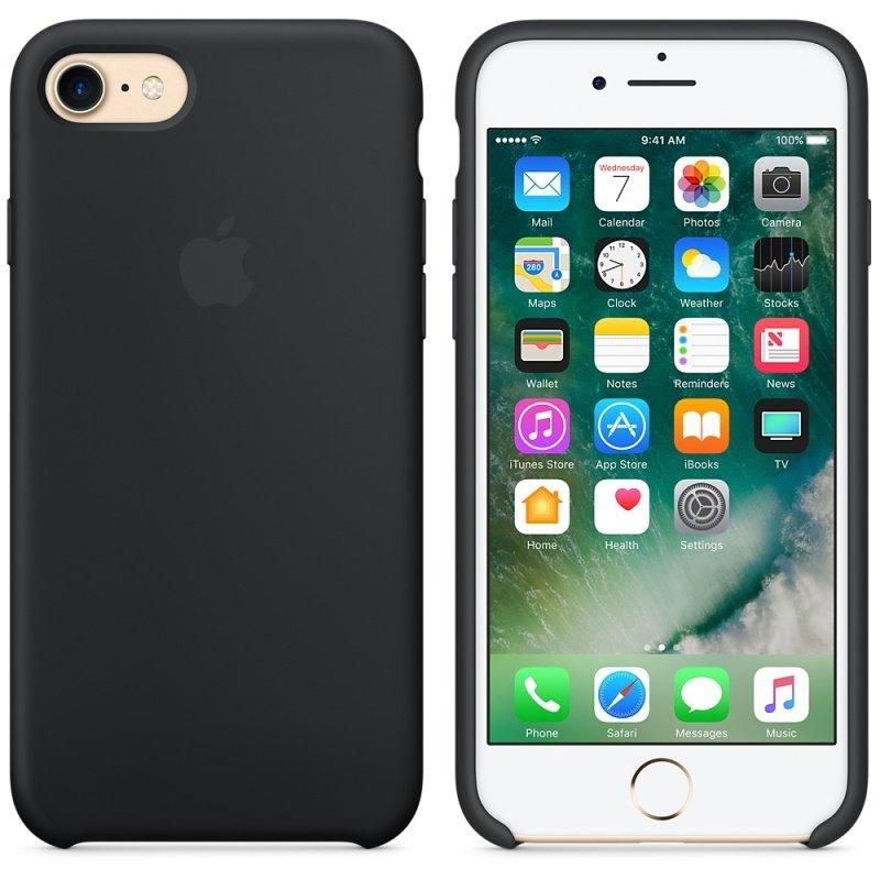 Apple iPhone 7 Silicone Case - Black