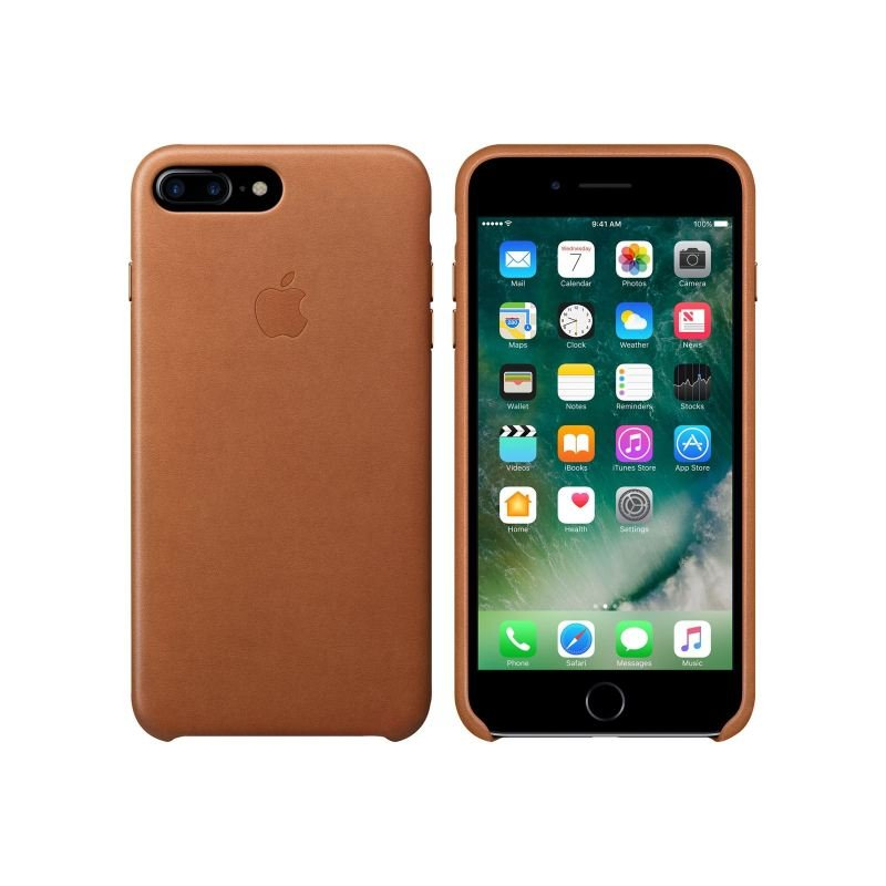 Apple iPhone 7 Plus Leather Case - Saddle Brown