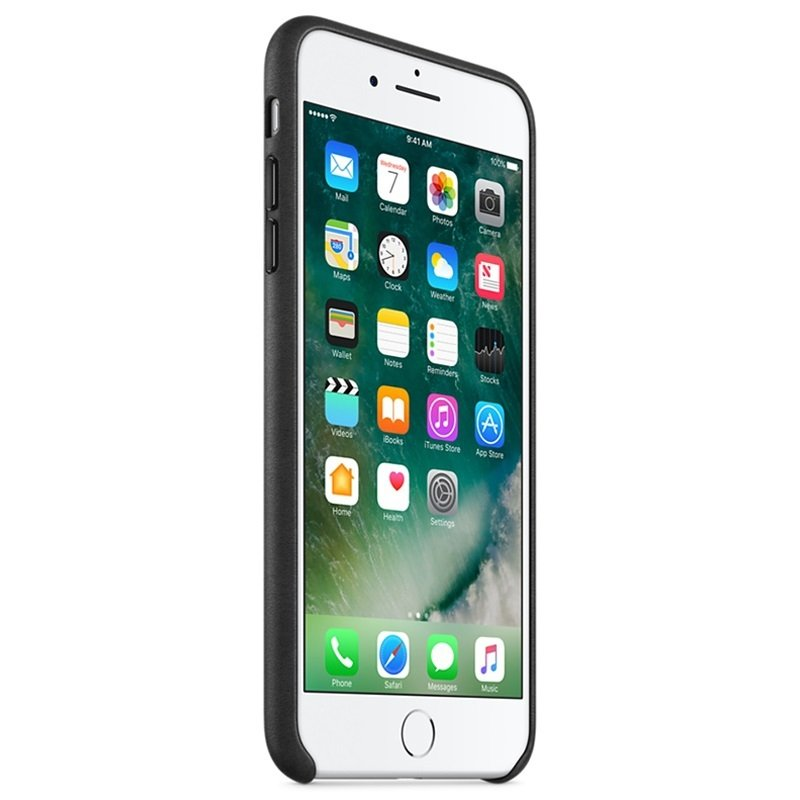 Apple iPhone 7 Plus Leather Case - Black