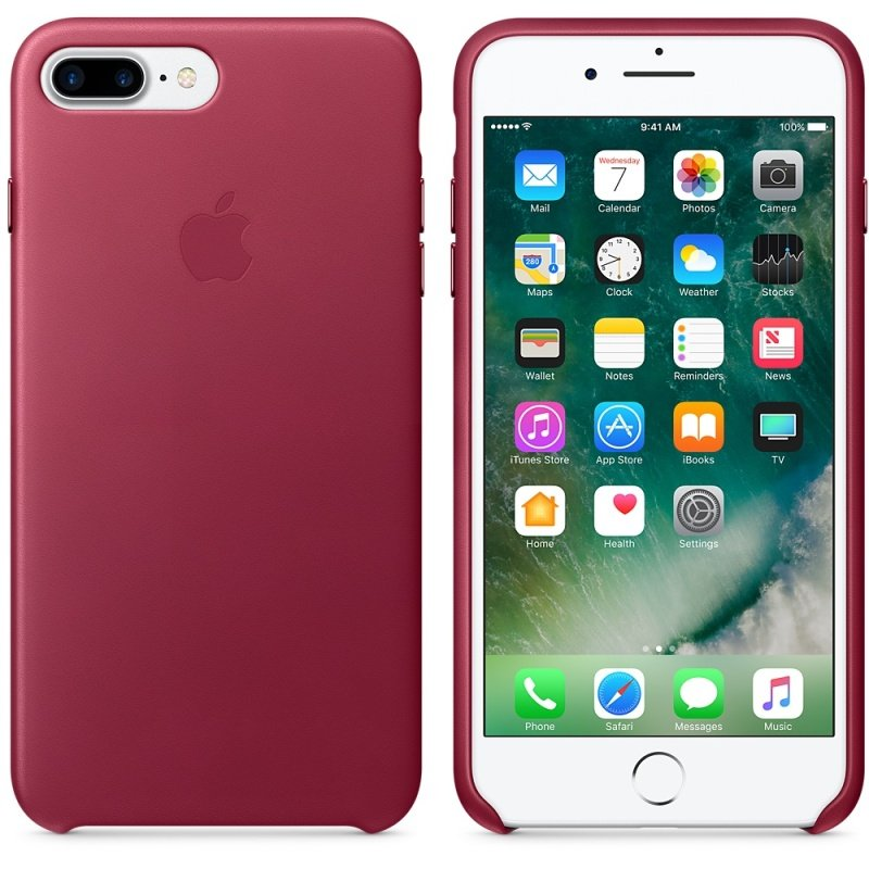 Apple iPhone 7 Leather Case - Berry