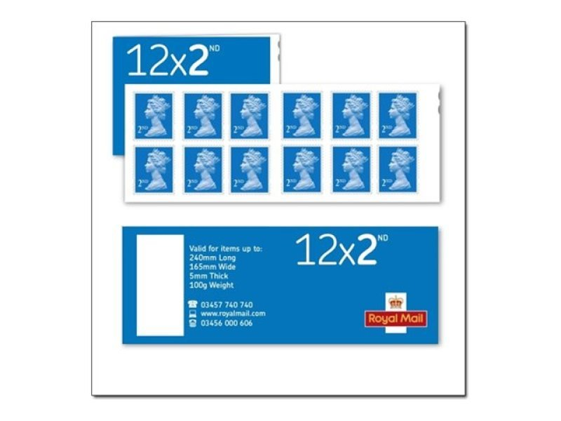 Royal Mail 2nd Class Postage Stamps - 12 Pack