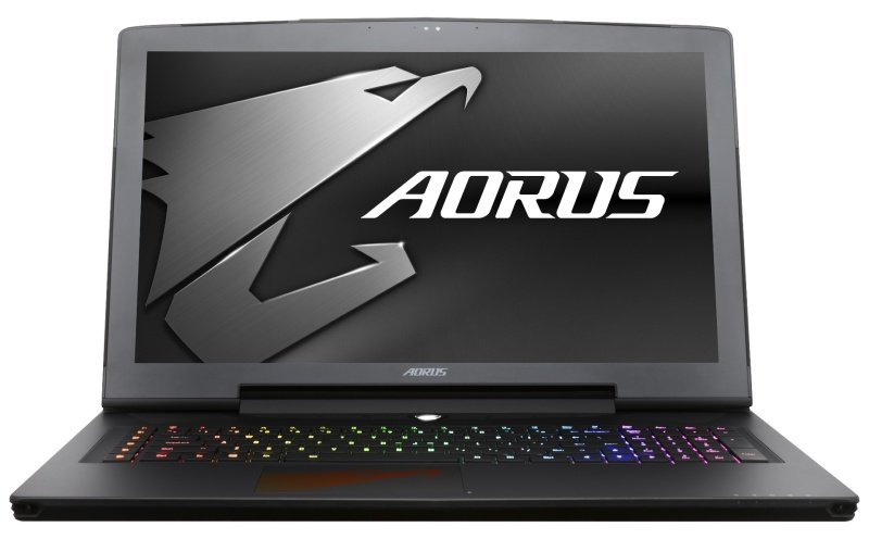 "Image of Aorus X7 v7-CF1 Gaming Laptop, Intel Core i7 7820HK 2.9GHz, 16GB DDR4, 1TB HDD, 256GB SSD, 17.3"" UHD 3840×2160, No-DVD, NVIDIA GTX 1070 8GB, WIFI, Webcam, Bluetooth, Windows 10 Home"