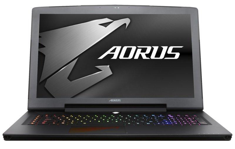 "Image of Aorus X7 v7-CF2 Gaming Laptop, Intel Core i7 7820HK 2.9GHz, 16GB DDR4, 1TB HDD, 256GB SSD, 17.3"" QHD 2560×1440, No-DVD, NVIDIA GTX 1070 8GB, WIFI, Webcam, Bluetooth, Windows 10 Home"