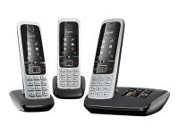 Gigaset C430A Trio - cordless phone - answering system with caller ID + 2 additional handsets