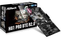 ASRock H81 Pro R2.0 BTC Mining Motherboard