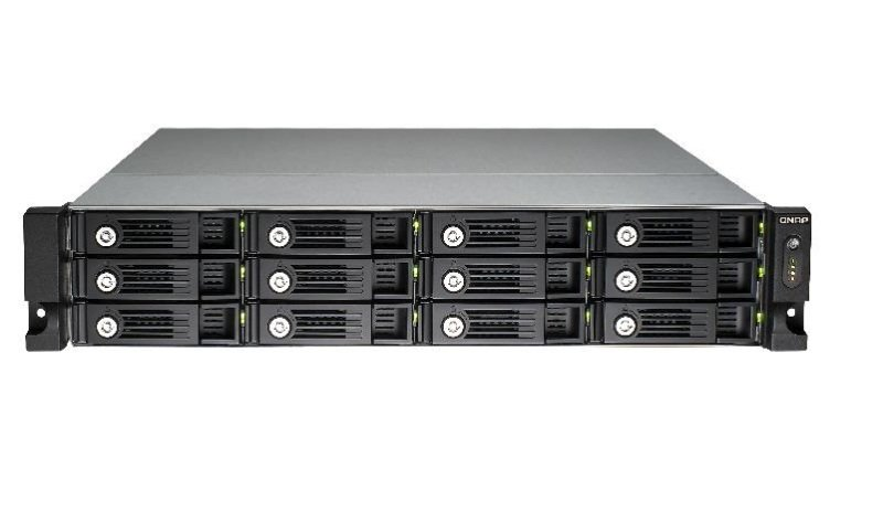 QNAP TVS-1271U-RP-i7 24TB (12x2TB WD RED PRO) 12 Bay Rack with 32GB RAM