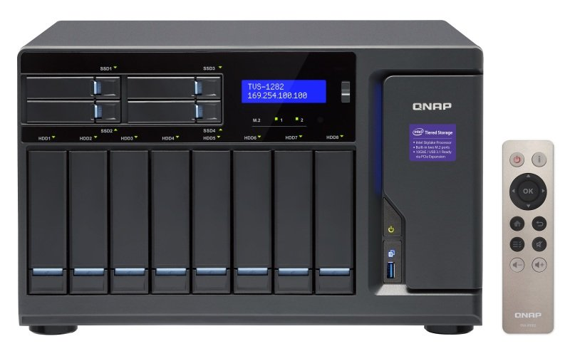 QNAP TVS-1282-i7-64G 16TB (8 x 2TB WD RED PRO) 12 Bay NAS w/ 64GB RAM