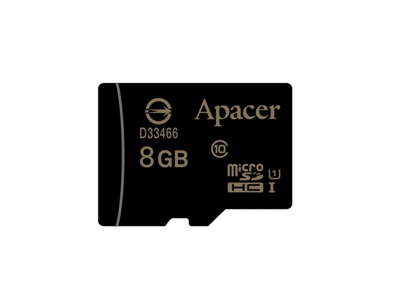 Apacer microSDHC UHS-I Class10 8GB w/Adapter