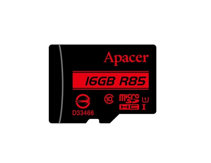 Apacer microSDHC UHS-I U1 Class10 R85 16GB w/ 1 Adapter RP