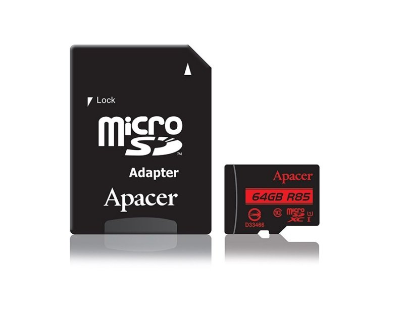 Apacer microSDHC UHS-I U1 Class10 R85 64GB w/ 1 Adapter RP