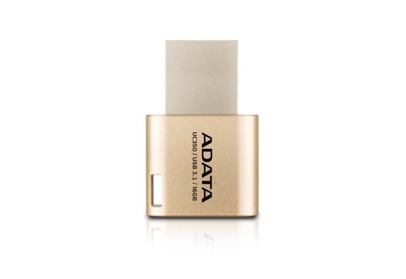 ADATA Choice UC350 - USB flash drive - 16 GB - USB 3.1 / USB Type-C - golden
