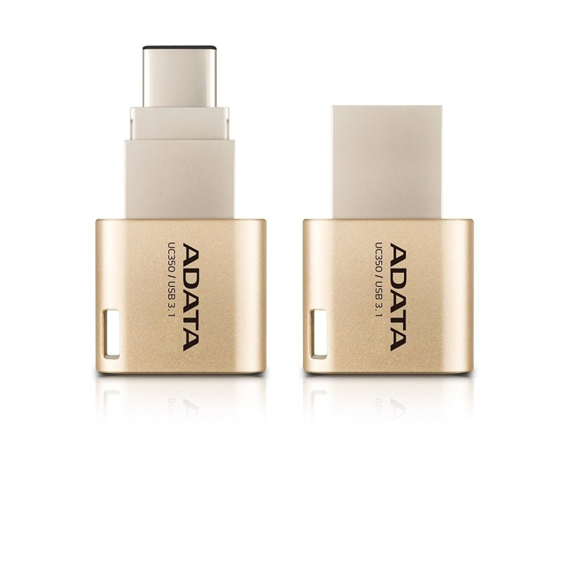 Image of ADATA Choice UC350 - USB flash drive - 64 GB - USB 3.1 / USB Type-C - golden