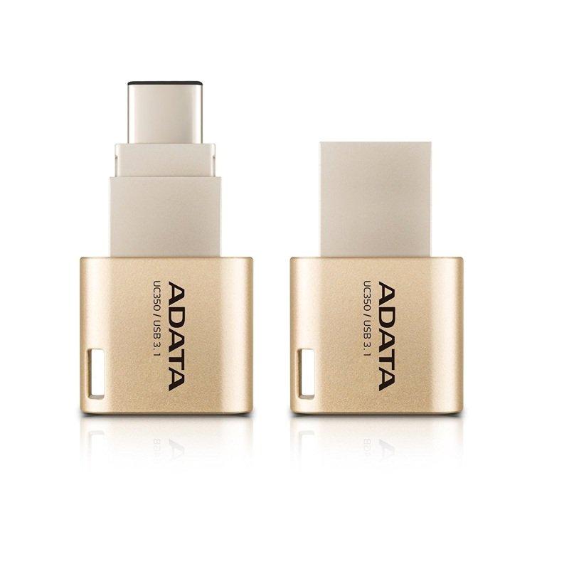 ADATA Choice UC350 - USB flash drive - 32 GB - USB 3.1 / USB Type-C - golden