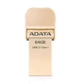 ADATA i-Memory AI920 - USB flash drive - 32 GB - USB 3.1 / Lightning - gold