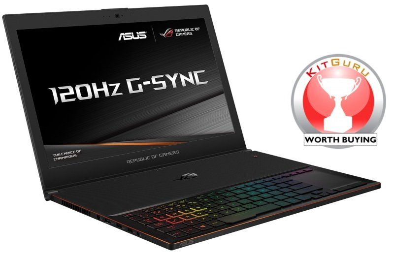"ASUS ROG Zephyrus GX501VI Gaming Laptop, Intel Core i7-7700HQ 2.8GHz, 16GB DDR4, 512GB SSD, 15.6"" FHD, No-DVD, NVIDIA GTX1080 8GB, WIFI, Bluetooth, Windows 10 Home 64bit"