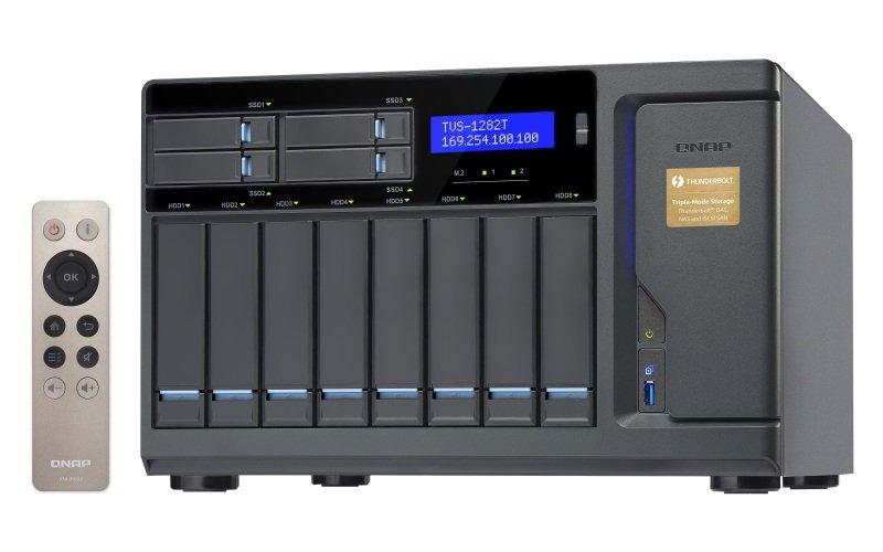 QNAP TVS-1282T-i7-64G 48TB (8 x 6TB WD GOLD) 12 Bay NAS with 64GB RAM