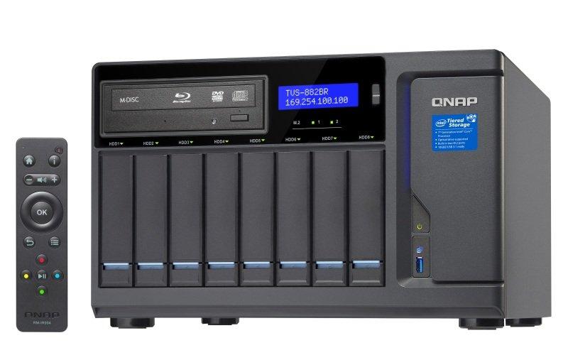 QNAP TVS-882BR-ODD-i7-32G 8 Bay Desktop NAS Enclosure with 32GB RAM