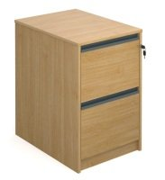 Oak Filing Cabinet With 2 Drawers 723mm High