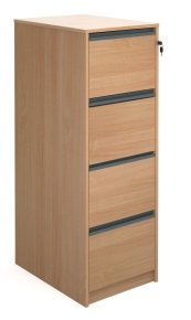 Ebuyer Filing cabinet with 4 Lockable Drawers - Beech