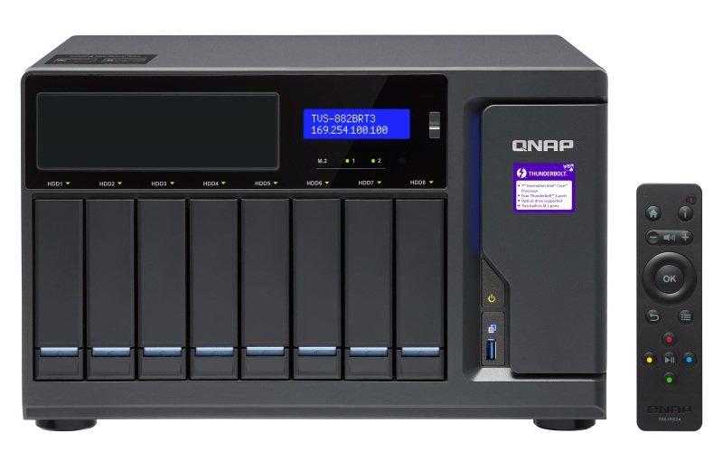 QnQNAP TVS-882BRT3-i5-16G 8 Bay Desktop NAS Enclosure with 16GB RAM