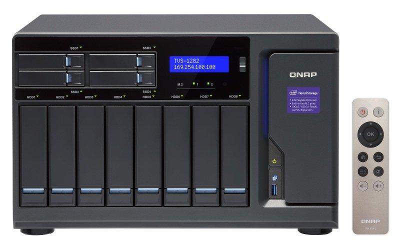 QNAP TVS-1282-i7-64G 8TB (8 x 1TB WD RED) 12 Bay NAS with 64GB RAM