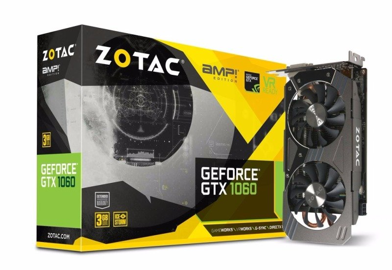 ZOTAC GeForce GTX 1060 3GB AMP! Edition Graphics Card