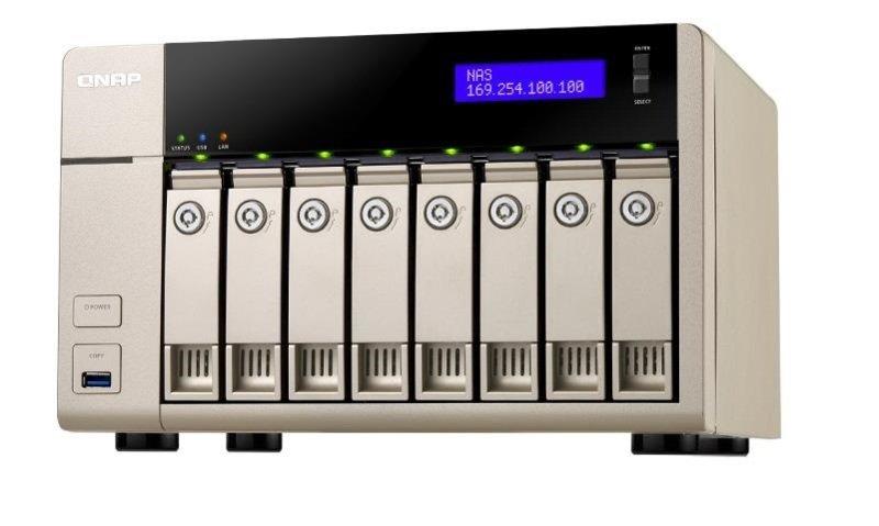QNAP TVS-863-8G 64TB (8 x 8TB SGT-IW) 8 Bay NAS Unit with 8GB RAM