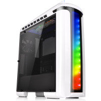 EXDISPLAY Thermaltake Versa C22 White Mid Tower Case with Side Window & RGB LED