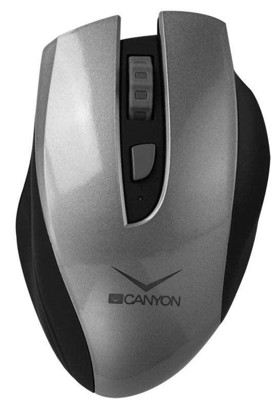 Canyon Wireless Rechargeable Mouse Silver