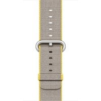 Apple Watch 38mm Yellow/Light Grey Woven Nylon