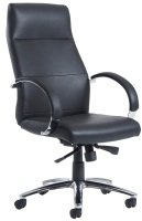 Indiana High Back Executive Chair- Black Leather