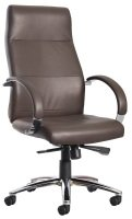 Indiana High Back Executive Chair- Brown Leather