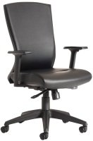 Waverley High Back Operators Chair - Black Faux Leather