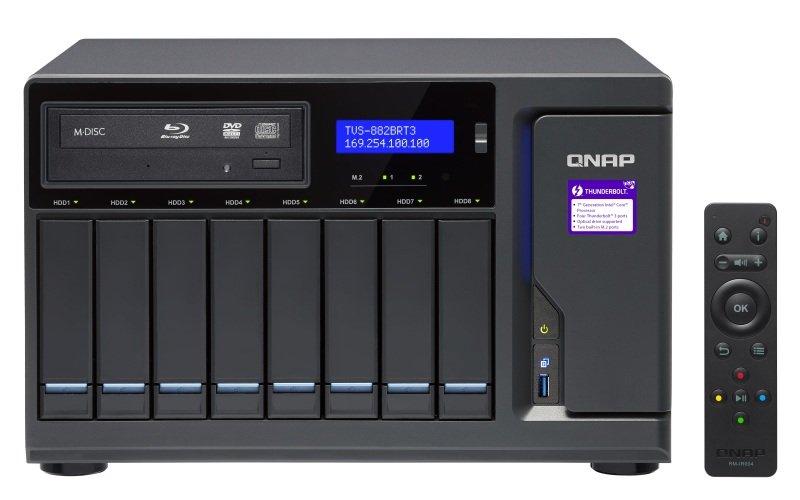 QNAP TVS-882BRT3-ODD-i7-32G 16TB (8 x 2TB WD RED) 8 Bay w/ 32GB RAM