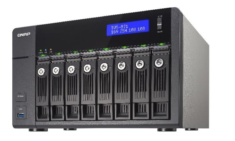 QNAP TVS-871-I3-4G 80TB (8 x 10TB WD RED) 8 Bay NAS with 4GB RAM