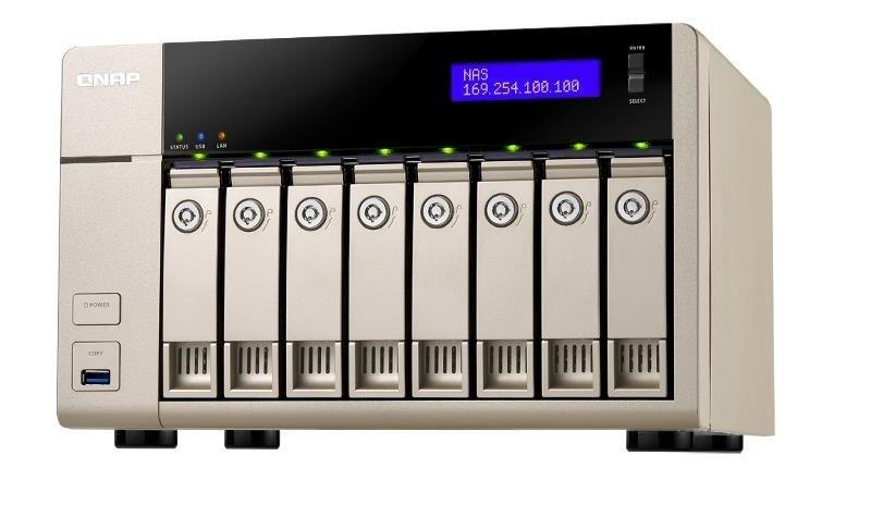 QNAP TVS-863+-16G 8TB (8 x 1TB WD RED) 8 Bay NAS Unit with 16GB RAM