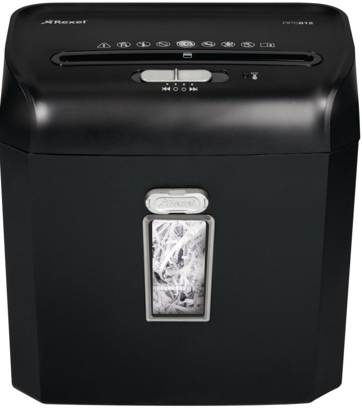 Image of Rexel Promax RPS812 Personal Shredder Strip Cut 8 Sheets 12 Litre