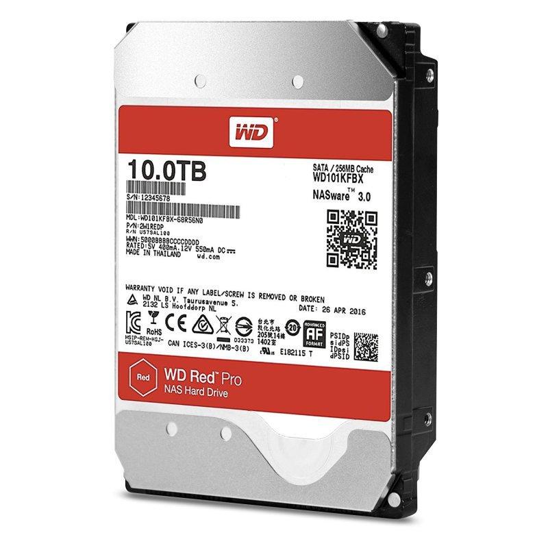 """WD Red Pro 10TB SATA III 3.5"""" Hard Drive - 7200rpm"""
