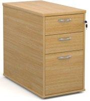 Ebuyer Desk High Pedestal 800mm Deep - Oak