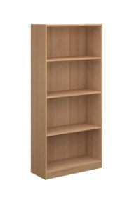 Ebuyer 1620mm High Economy Bookcase - Beech