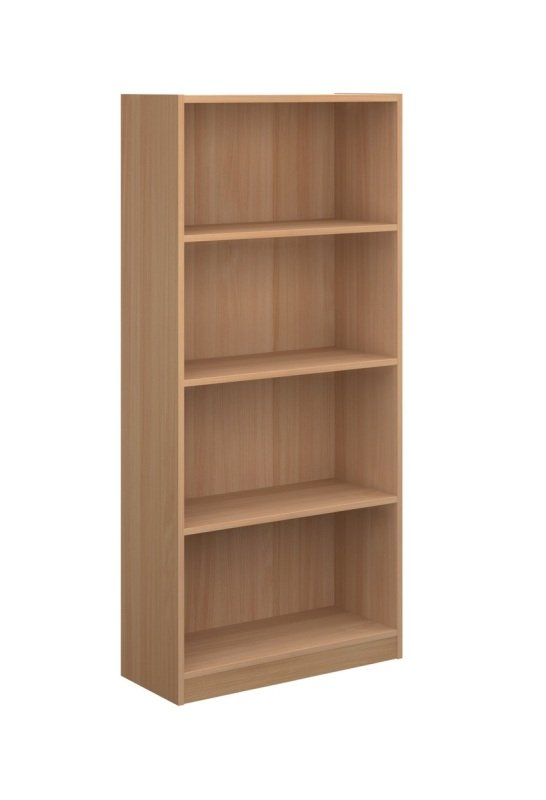 Image of 1620mm High Economy Bookcase - Beech
