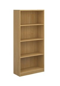 Ebuyer 1620mm High Economy Bookcases - Oak