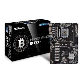 ASRock Intel H110 Pro BTC+ ATX Motherboard
