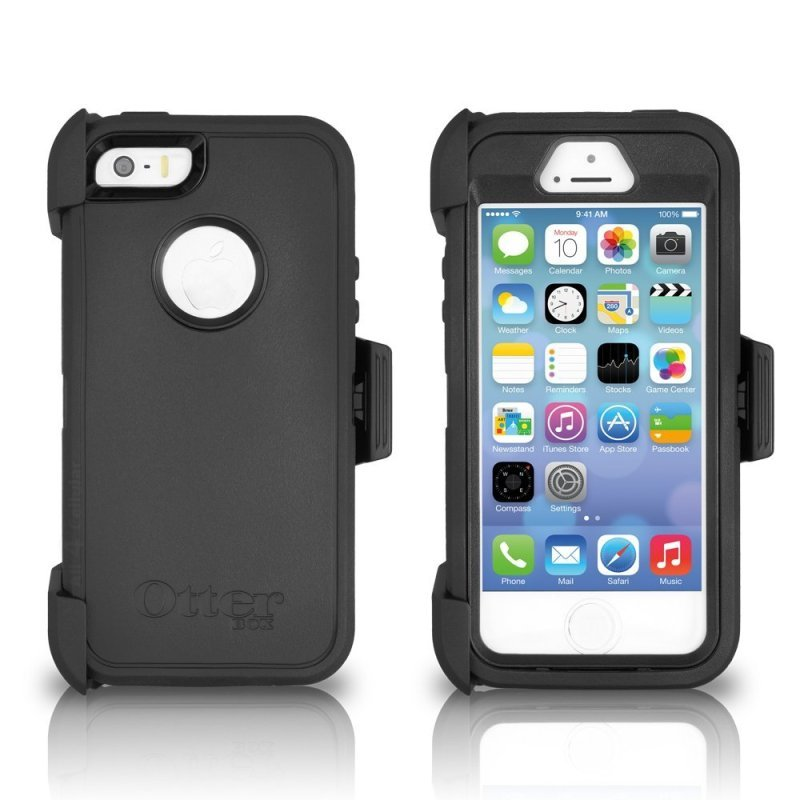 Mfr part code  77-33322. Otterbox Defender iPhone SE Black 4977df19b15c