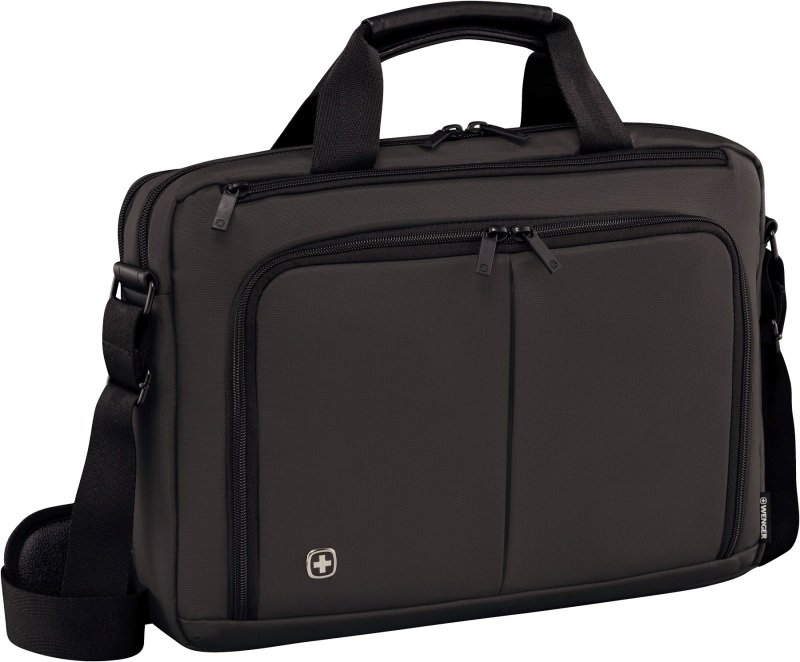 "Wenger 601065 Source 14"" Laptop Briefcase with Tablet Pocket - Grey"