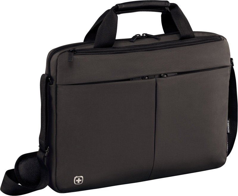 "Wenger 601080 Format 14"" Laptop Slimcase with Tablet Pocket - Greywith Tablet Pocket - Grey"